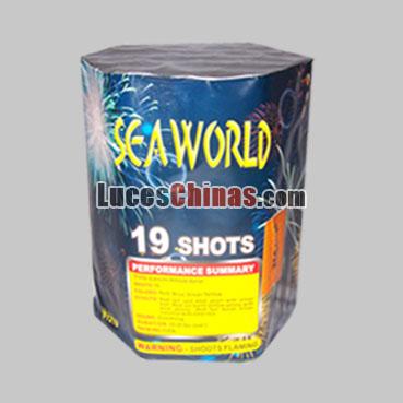SEA WORLD 19 Disparos Batería de Pirotécnia